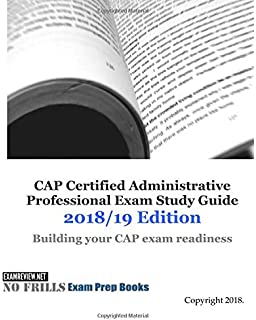 Amazon certified administrative professional cap examination cap certified administrative professional exam study guide 201819 edition fandeluxe Images