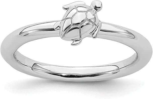 North Arrow Shop Sterling Silver Sea Turtle Ring Animal /& Nature Jewelry with Gift Box