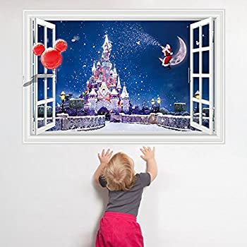 3d window decal wall sticker home decor for Christmas wall art amazon