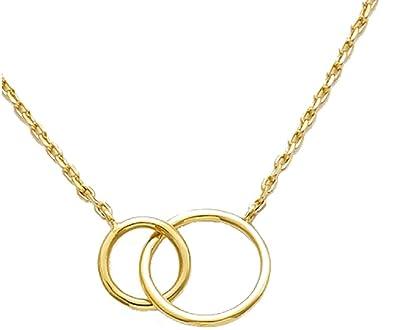 Goldkette damen stern  Halskette aus Gold, Kette mit Anhänger, verschlungene Herzen ...