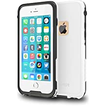 """CellEver iPhone 6 / 6s Case Waterproof Shockproof IP68 Certified SandProof SnowProof Full Body Protective Cover Fits Apple iPhone 6 and iPhone 6s (4.7"""") - (White)"""