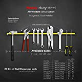"""Master Magnetics AM1PLC Magnetic Tool Holder, 24"""" Wide, 20 lb per inch, Black Powder Coat with Yellow Stripe"""