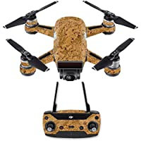 Skin for DJI Spark Mini Drone Combo - Cork| MightySkins Protective, Durable, and Unique Vinyl Decal wrap cover | Easy To Apply, Remove, and Change Styles | Made in the USA