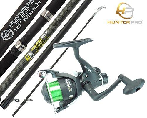 Float Match Fishing Rod & Reel Hunter Pro 10' Carbon Rod