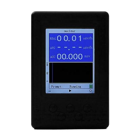 BIlinli Dosímetro portátil Geiger Counter Detector de radiación Nuclear Detector Beta Gamma de Rayos X: Amazon.es: Hogar