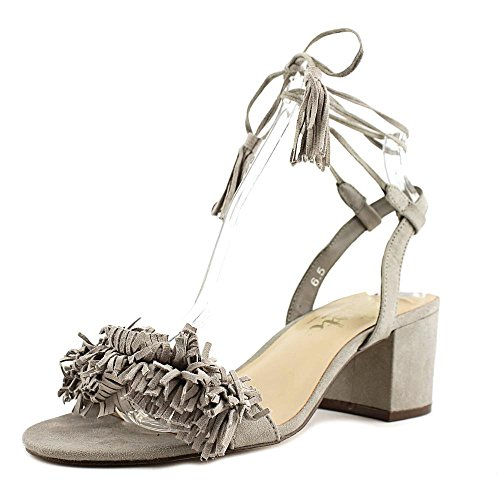 Callisto Womens MELZ Fabric Open Toe Casual Ankle Strap Sandals Grey Suede