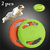 Legendog 2 Pcs Flying Disc, Soft Floating Dog Catcher Toy Dog Toys for Pet Training & Chewing