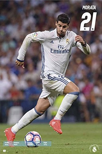Real Madrid - Sports Poster / Print Alvaro Morata #21 In Action 2016/2017 By