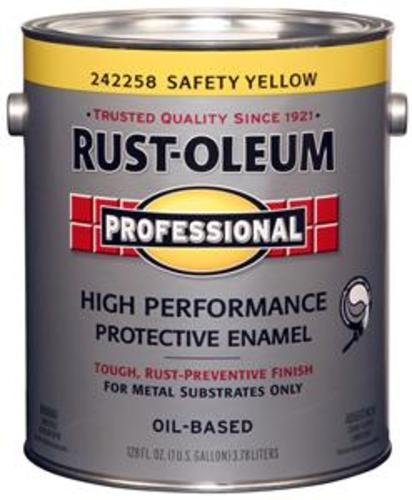 - Rustoleum Professional 242258 1 Gl Safety Yellow High Perf Protective Enamel Low VOC