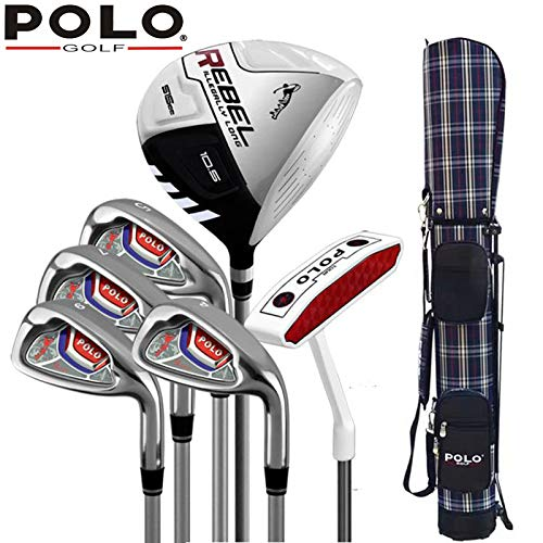 半分のクラブ初心者セットPOLOゴルフクラブの男性と女性は、ポールカーボンシャフトを練習します B07S3HKZTF