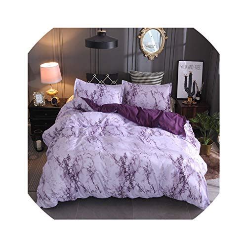 Bedspreads Marble Bedding Set Purple/White/Black/Coffee/Blue Duvet Cover Twin Double Queen Quilt Cover Bed Linen (No Sheet No Filling),Purple,Au - Ninja Queen Sheets Turtle