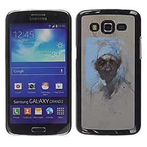 Caucho caso de Shell duro de la cubierta de accesorios de protección BY RAYDREAMMM - Samsung Galaxy Grand 2 SM-G7102 SM-G7105 - Watercolor Painting Art Man