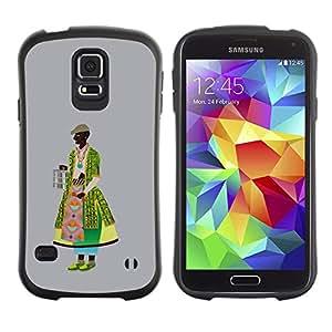 Paccase / Suave TPU GEL Caso Carcasa de Protección Funda para - Middle Ages dressing - Samsung Galaxy S5 SM-G900