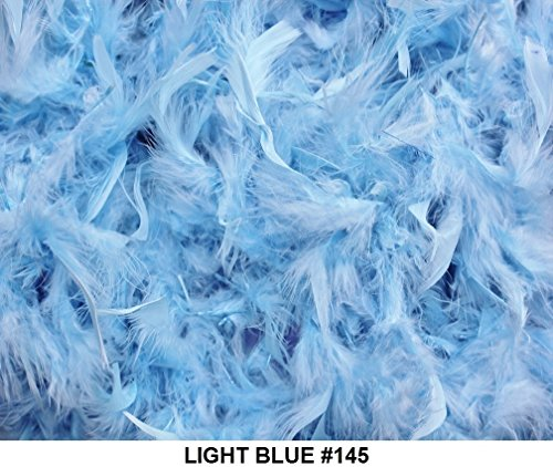 Top feather boa light blue