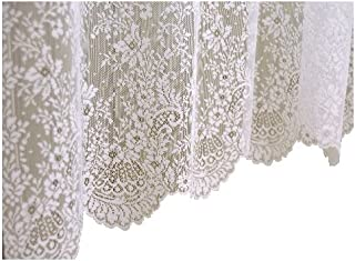 product image for Heritage Lace Floret 60-Inch Wide by 30-Inch Drop Tier, Ecru
