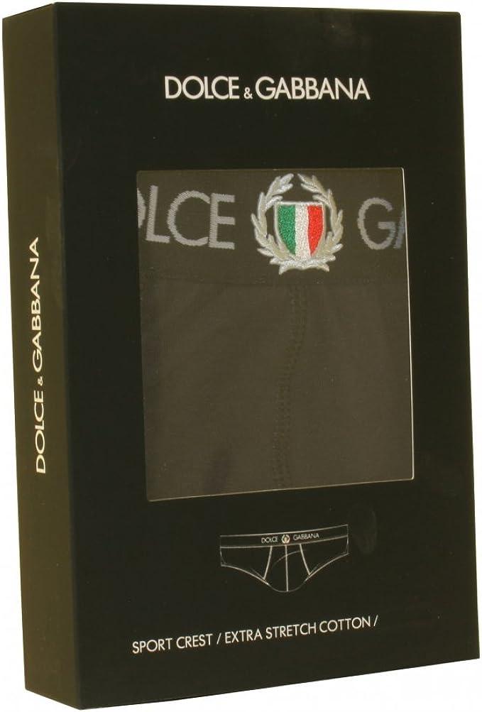 Black Dolce /& Gabbana Sport Crest Brando Men/'s Brief