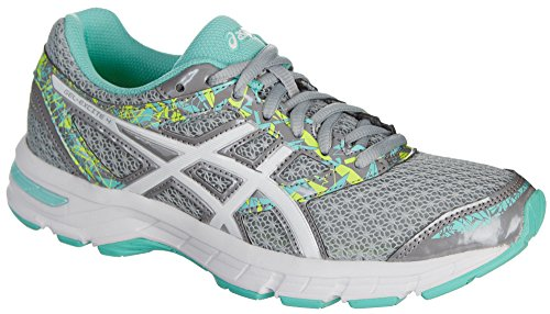 ASICS Womens Gel-Excite 4 Shoes, Size: 9.5 B(M) US, Color Mid Grey/White/Ice Green