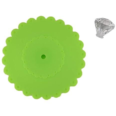 Akak Store 6 PCS New Cute Anti-dust Silicone Glass Cup Cover Coffee Mug Suction Seal Lid Cap AKOAK SYNCHKG098880