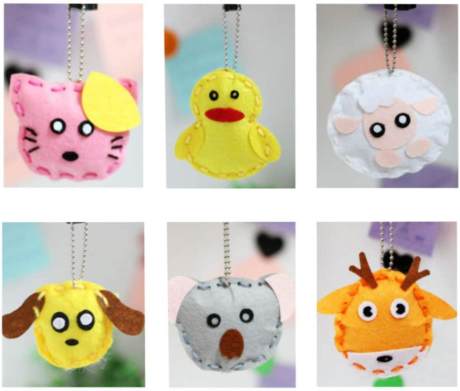 Dog Kids DIY- First Sewing Kit for Kids Lovely Animals Style- Cat Elk Ages 6+ Learn to Sew DIY Craft Kits Sheep and Sloth Duck