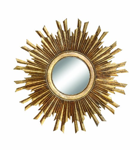 Creative Co-op Gold Sunburst Mirror