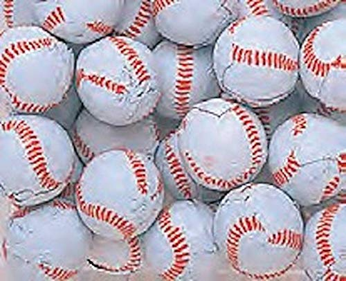 Chocolate Covered Baseballs - Bulk Chocolate Baseball Candy - 5 Pounds - Approximately 400 Pieces