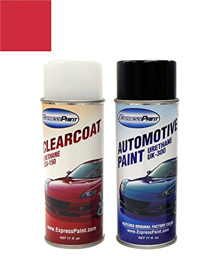 ExpressPaint Aerosol Hyundai Elantra Automotive Touch-up Paint - Red Allure Metallic Clearcoat S2R - All Inclusive Package