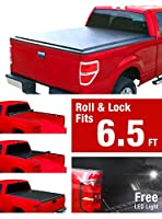 Premium TCT262083 Low Profile Roll& Lock Tonneau Bed Cover Fits 2007-2017 Toyota Tundra 6.5' Bed (without utility track kit)