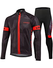 ac2cc7c14 Lixada Men s Cycling Clothing Suit Winter Thermal Fleece Sportswear Set  Long Sleeve Windproof Jersey Coat Jacket
