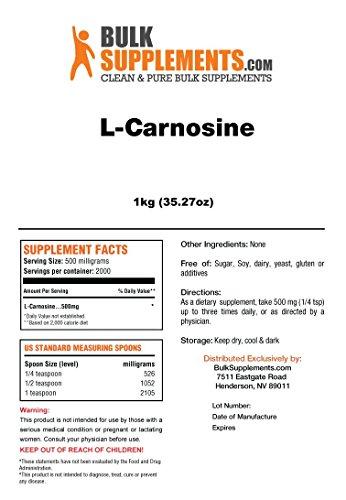 BulkSupplements L-Carnosine Powder 50 Grams