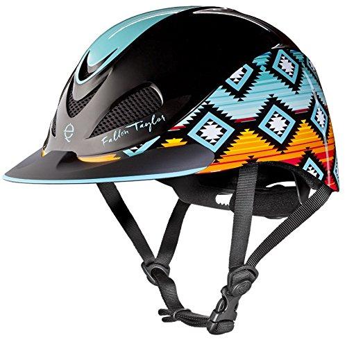 Troxel Sunset Serape ♦ Designer Equestrian Helmets by Fallon Taylor ♦ ASTM/SEI Certification ()