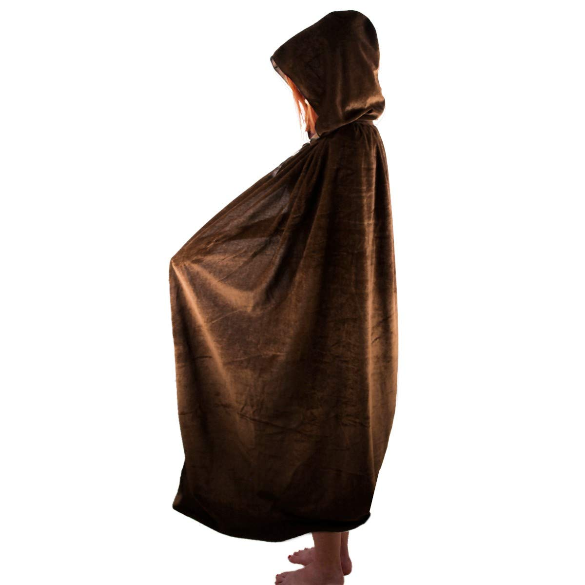 SUNYIK Unisex Kids Long Hooded Cloak Cape for Halloween Party Role Cosplay Costumes