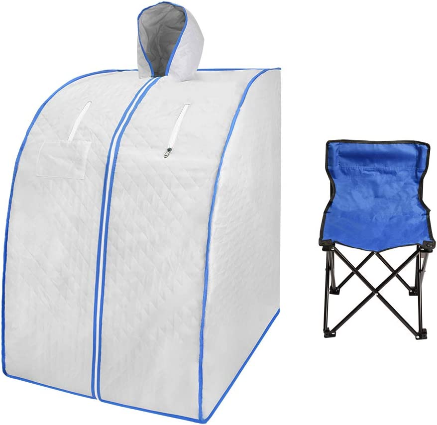 ETE ETMATE Portable Far Infrared Sauna, Personal SPA Tent with Remote Control, Infrared Home Spa with Upgrade Chair for Full Body Relaxation, Weight Loss, Detox at Home