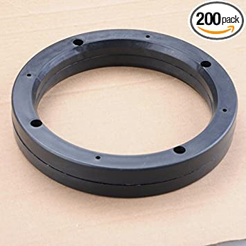 2 Pack Uxcell a17022800ux0085 2 Pcs 4 Dia Universal Black Plastic Speaker Spacer Adaptor Ring Mounting Bracket for Auto Car