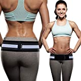 Sacroiliac SI Joint Hip Belt - Breathable Anti-Slip Pelvic and Lower Back Support Brace for Men and Women - Pain Relief for Sciatica, Pelvis, Lumbar, Nerve and Leg Pain - Stabilizing Compression