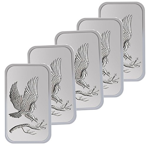 Trademark Bald Eagle 1oz .999 Fine Silver Bars by SilverTowne LOT OF - Bald Coins Eagle