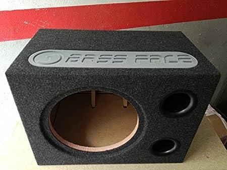 Bass Face Box vacío para subwoofer 30 cm en Caja Reflex Sub Auto Empotrado BR12-60 Sub Coche Empotrado + Gadget Mini Pack con Adhesivos y Llavero FinizioPowerTeam: Amazon.es: Electrónica