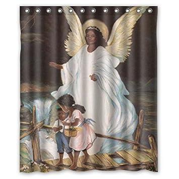 Amazon Guardian Angel With Children On Bridge African American