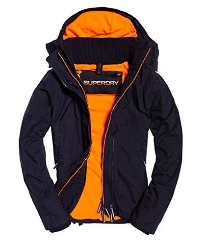 Pop Zip Hood Arctic Wndcheater Nb Deep Marine/Emergency Orange XXL - Mens Nb Zip