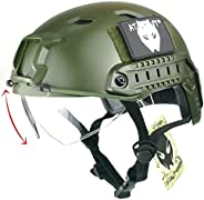 ATAIRSOFT BJ Type Tactical Fast Helmet w/Protective Goggles Version