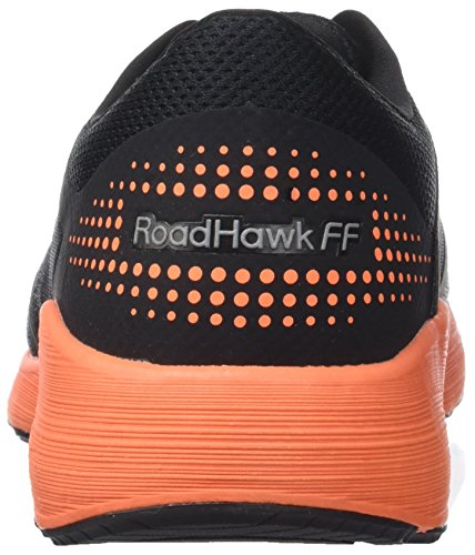 Asics Herren Roadhawk FF Laufschuhe Schwarz (Black / Hot Orange / White)