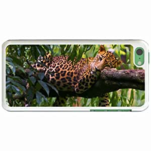 Personalized Apple iPhone 5C Back Diy PC Hard Shell Case Leopard White
