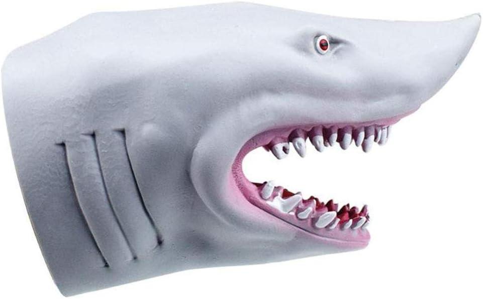 Guantes de plástico tiburón marioneta de Mano Cabeza de Animal Niños Juguetes Animal Gift Regalos Cabeza Figura Vívidamente niños Modelo Juguete