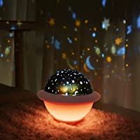 UFO Night Light for Kids, Galaxy Starry Projector, Space Universe Night Light, Galaxy Projector, Stellar Lamp for…