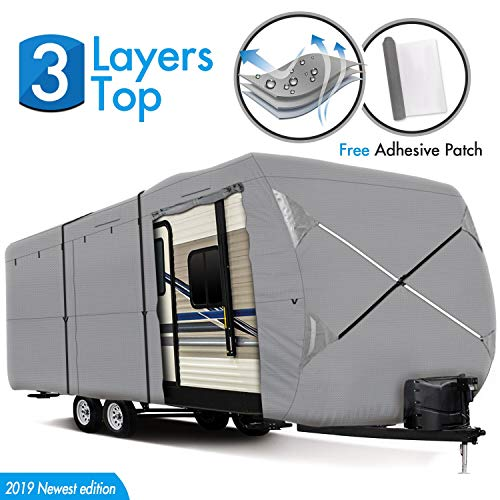 XGEAR Thick 3-Ply Top Panel Travel Trailer Cover- Ripstop Waterproof