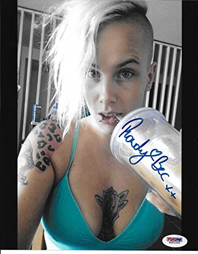 Rowdy Bec Rawlings Signed Ufc 8X10 Photo Coa Fight Night Tuf Invicta Fc   Psa Dna Certified   Autographed Ufc Photos