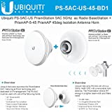 Ubiquiti PS-5AC-US 5GHz airMAX ac Radio Basestation + PrismAP-5-45 45degree Isolation Antenna Horn