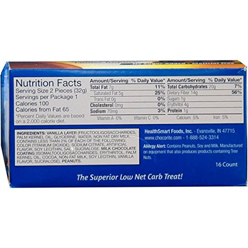 ChocoRite - High Protein Diet Bar | Vanilla Peanut Clusters | Low Calorie, Low Fat, Low Sugar ( 16/Box )