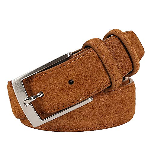Mens Genuine Leather Jeans Belts Luxury Suede Belt Straps
