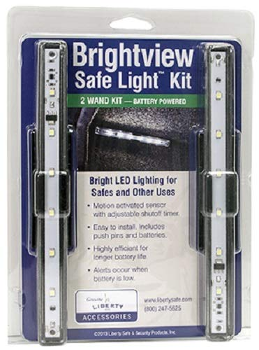 Liberty Brightview Light Kit - 10981 - 2 Wands - Motion Activated Sensor With Adjustable Shutoff Timer - Easy To Install - Includes Push Pins And Batteries - Highly Efficient For Longer Battery Life