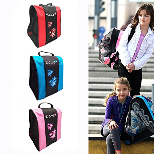 In Line Skates Bag - Elle Ice Skate Bag Roller Inline Hockey Skates Rollerblade Bag for Girls Boys Kids Children Adultes Waterproof (Pink.)